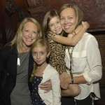 Tess and Chloe Atkinson with Tillie Fischoeder and mom Allison O'Neil (the girls attends BB&N)