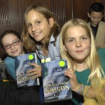 Shady Hill School students Louisa Monahan, Abby Houghton and Bromwyn Legg