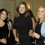 French Cultural Center president Catheline van den Branden, Katherine Chapman and Isabelle Megard