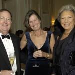 George and Lisa Ireland with Committee member Brigitte Moufflet