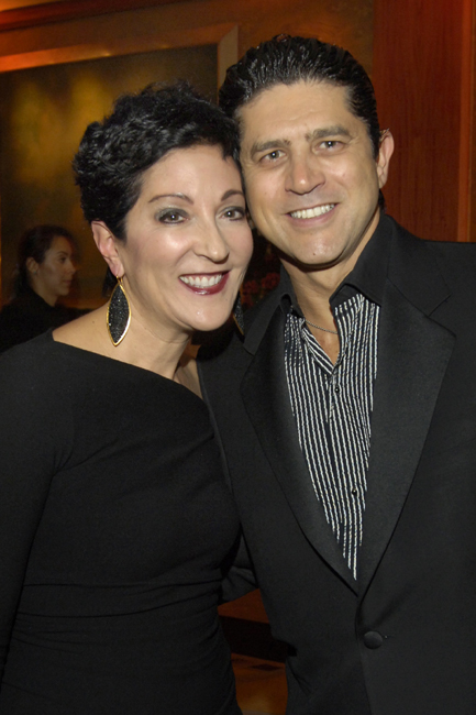 Gala co-chair Loriann Meagher & auction artist Fernando DeOliveira