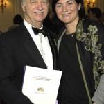 Chair of Wine Committee Eric Vogt with guest of honor Coralie de Boüard de Laforest