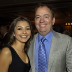 Committee member Monica Mammano & Mistral chef/owner Jamie Mammano