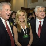 Committee members Joe O'Donnell & Karen Kaplan with Paul Guzzi, president of the Greater Boston Chamber of Commerce