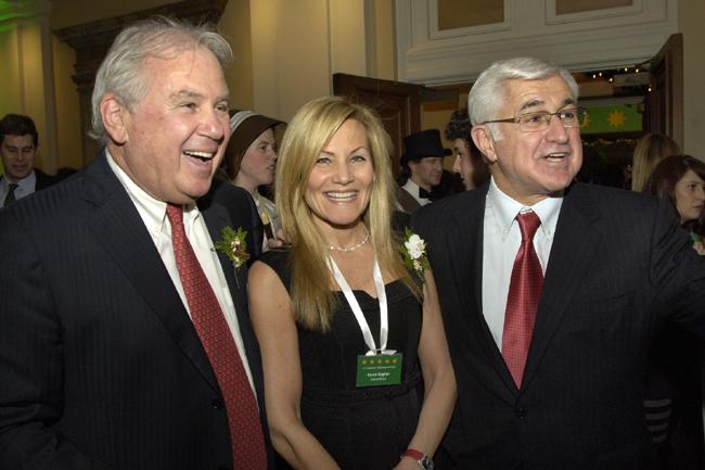 Committee members Joe O'Donnell & Karen Kaplan with Paul Guzzi, president of the Greater Boston Chamber of Commerce