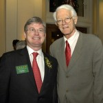 Committee member James Cleary, Jr. & Peter Lynch