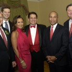 Committee chairmen Robert Matthews (left) and Robert Reynolds (right) pose with Zoltán Meskó, Vanessa Williams, Keith Lockhart and Governor Deval Patrick