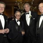 Author William Martin, dinner sponsor Lionel Spiro, awards presenter Ike Williams, and Bayard Henry
