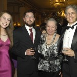 Associates director Peter Brown and wife Susan Vogt Brown, on right, with daughter Elizabeth Vogt Brown and Grant Ferguson