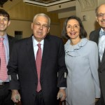 Mayor Menino poses with Fred, Stephanie and Jonathan Warburg
