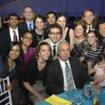 Mayor Tom Menino poses with Spaulding's chief resident doctors