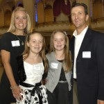 Maureen, Sophia (winner), Sydney, and Philip Imbrescia, from Saint Patrick School in Stoneham