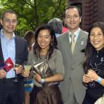 Consul General of Switzerland Dr. Felix Moesner, Maki Moesner, Consul General of France Fabien Fieschi & Yuki Fieschi