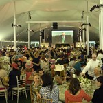"""Party in the Park"" under a huge tent in Back Bay Fens"
