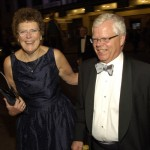 Sandy Urie and Frank Herron, arriving at the gala