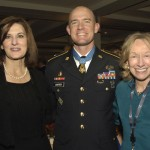 Medal of Honor recipient SSG Ty Carter with Vicki Kennedy and Doris Kearns Goodwin