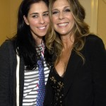 Performers Sarah Silverman and Rita Wilson backstage