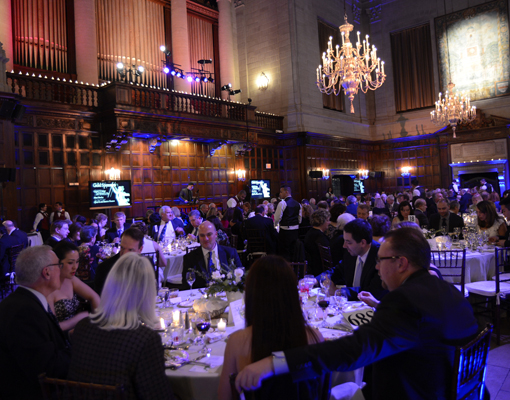The Boston Conservatory's annual gala dinner was held at the Harvard Club on Commonwealth Avenue