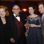"Boston Conservatory president Richard Ortner, 2nd from left, with guest alumni ""Sondheim"" performers Laura Marie Duncan, Liz Hayes, and Chad Kimball"