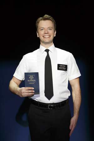 "David Larsen stars in ""The Book of Mormon"" presently running at The Colonial Theatre in Boston through October 11. (Photo (c) Joan Marcus, 2014)"