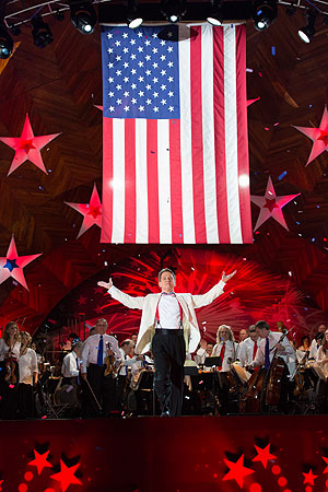 Maestro Keith Lockhart and the Boston Pops on July 4th (File photo by Michael Blanchard)