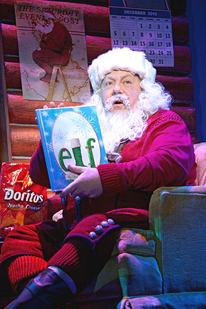 "George Wendt plays Santa in the Broadway production of ""ELF The Musical,"" which makes its much-anticipated return to Boston in November. (Photo by Joan Marcus)"