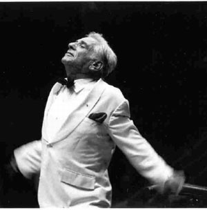 Pictured conducting at a Tanglewood concert in 1981 is Leonard Bernstein. (Walter H. Scott photo courtesy of the BSO)