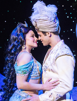 """Clinton Greenspan, right, (Aladdin) and Isabelle McCalla (Jasmine) perform in the """"Aladdin"""" North American Tour presently at the Boston Opera House. (Photo by Deen van Meer (c) Disney)"""